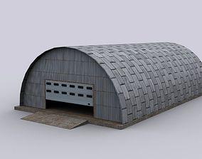 3D model hangar metal