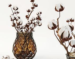 3D Cotton in a vase