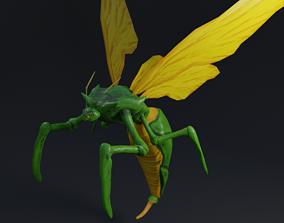 3D asset Flying Beetle