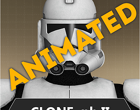 3D asset Animated clone trooper phase II