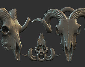 3D printable model RAM skull pendant
