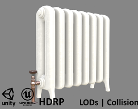 Game-ready painted iron radiator - Unity - HDRP - 3D model