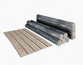Logs boards 3D model