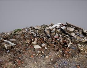 3D asset Large Rubble Debris