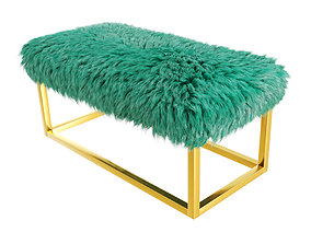 Marilyn Bench Ottoman Faux Fur 3D