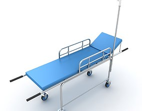 3D Transport Ambulance Stretcher Trolley
