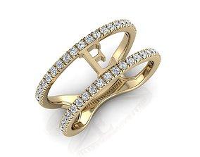3D print model Jewelry Alphabet Ring E