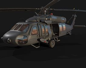 3D asset Low Poly PBR Medium Lift Utility Helicopter