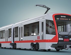 San Francisco Tramway MUNI SFMTA Siemens S200 3D model