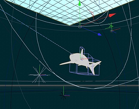 Shark scene 3D model