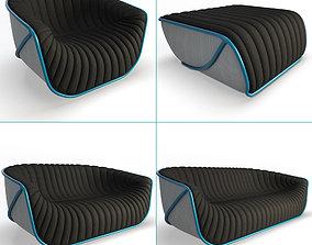 3D model Nautil Sofa Furniture Roche Bobois