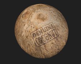 Skinless Coconut 3D asset
