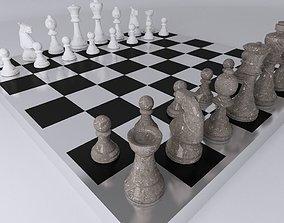 Chess Table 3D asset