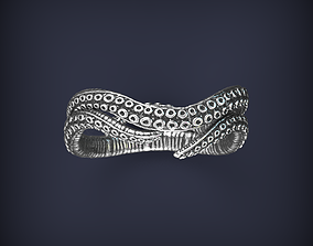 Tentacles octopus ring jewelry 3d print model beauty
