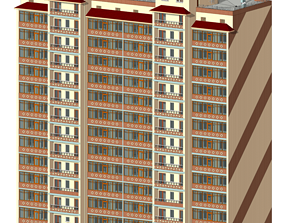 elevated Residential Building 3D model