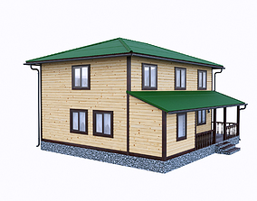 simply wooden house 4 3D model
