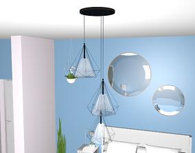 Diamond design lamp 3D model