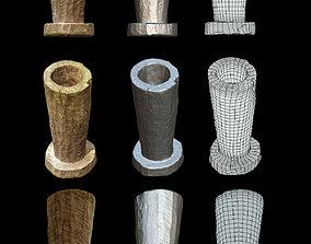3D model Wooden mortar middle ages