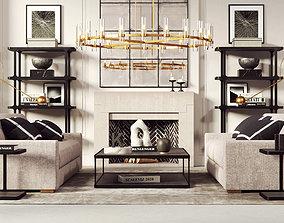 Modern Living Room 212 3D model