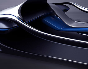 Fluidic electric dashboard concept 3D model