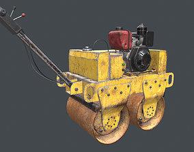 Mini Road Roller 3D asset