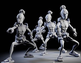 Samurai 4 poses - 3D Print Models