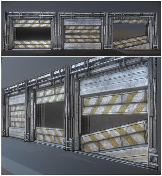 Large Sci-fi Door (animated)