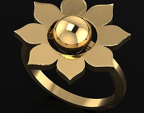 3D printable model Flower Ring Size 54