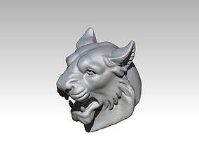 Tiger Head Bust Angry Roar 3D printable model