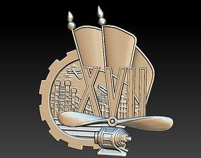 3D printable model Badge Factory Building City Screw