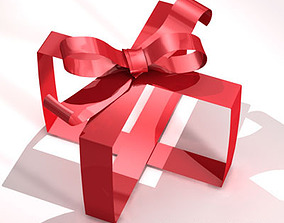 Gift ribbon 3D