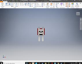 Minecraft Tamed Wolf 3D print model