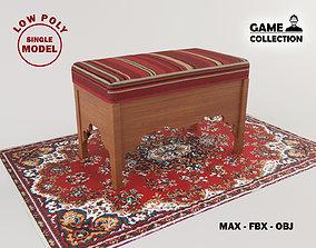 3D model Arabian Bench Lowpoly