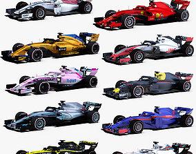 Formula 1 2018 Cars 3D asset
