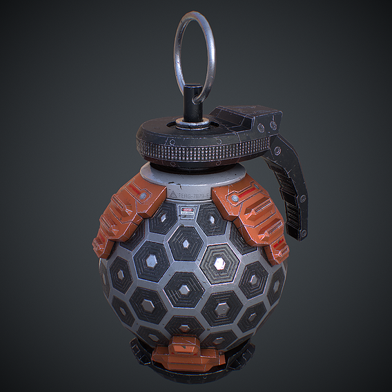 Spherical Sci-fi Grenade