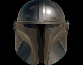 star 3D model Mandalorian Beskar Helmet - High-poly