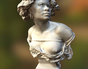 3D model bust of female slave