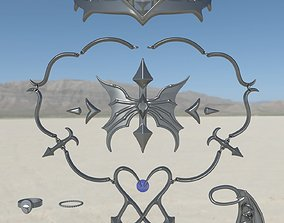 Castlevania Lenore jewelry and acessories 3D models set