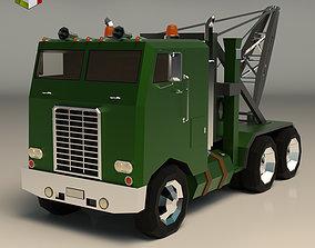 Low Poly Vintage Truck 04 3D model