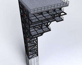 3D Rocket launch complex platform