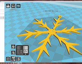 Snowflake bauble 3D print model