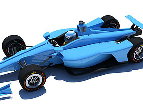 Indycar 2018 - Oval version 3D model aero