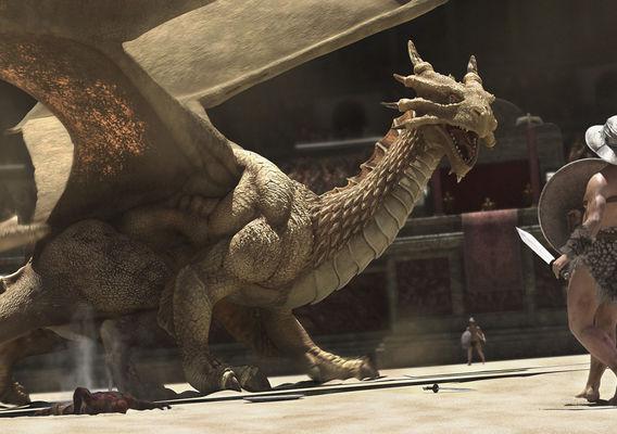 Dragon in Rome