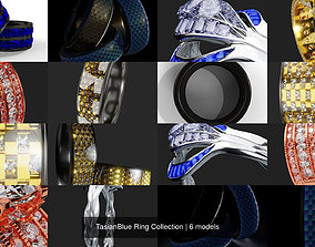 TasianBlue Ring Collection 3D PBR