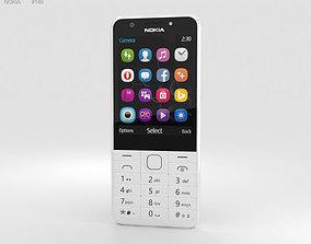 3D Nokia 230 Dual SIM White