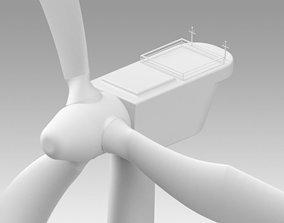 Wind turbine generator 3D model