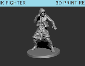 3D printable model Monk Fighter Miniature