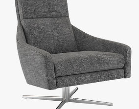 3D model West Elm Austin Swivel Armchair