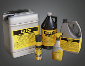 CLA - Cleaning Supplies - PBR Game Ready 3D asset