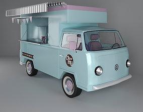 3D model Food truck transport